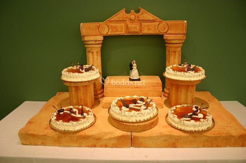 Tarta nupcial artesanal