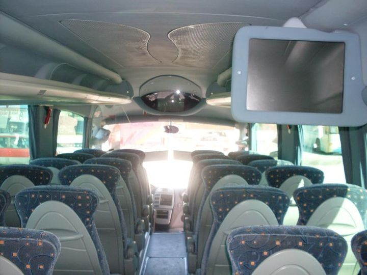 Interior autobus boda