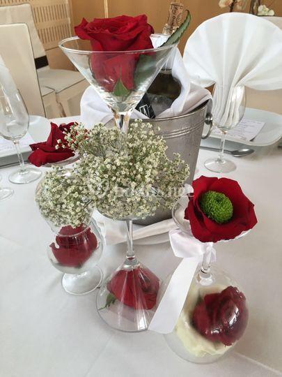 Detalle centro mesa invitados