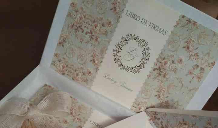 Libro de firmas e invitación