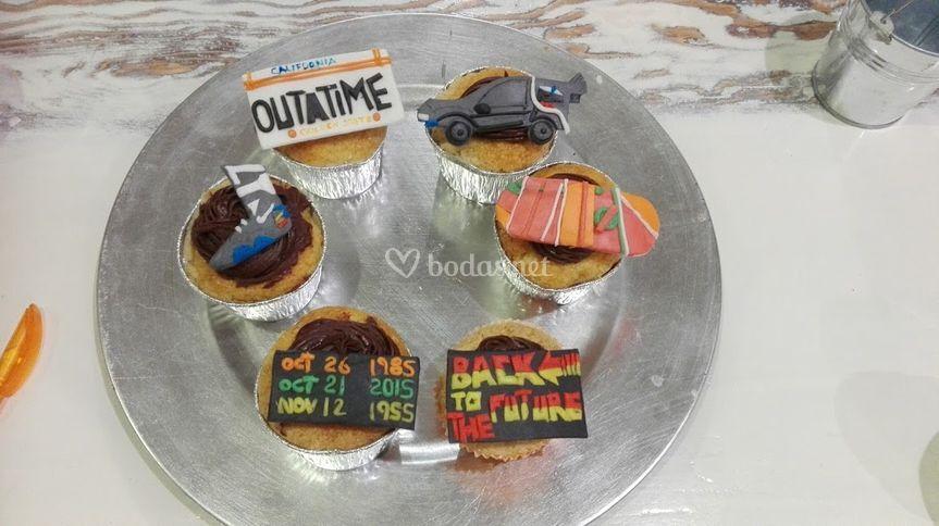 Cupcake regreso al futuro
