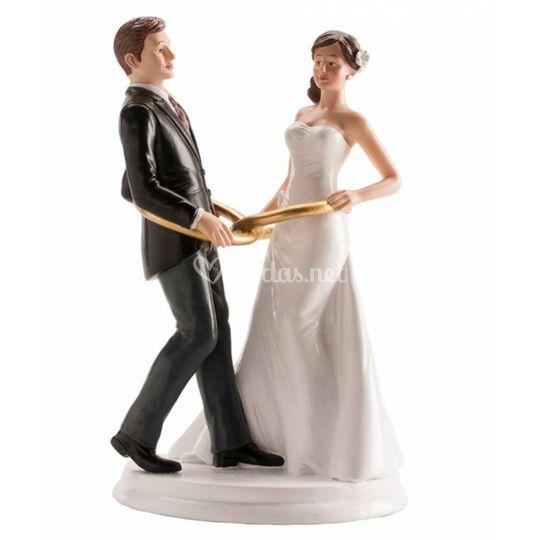 Figura de pastel de novios