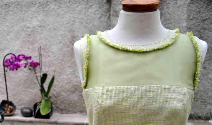 Vestido verde menta