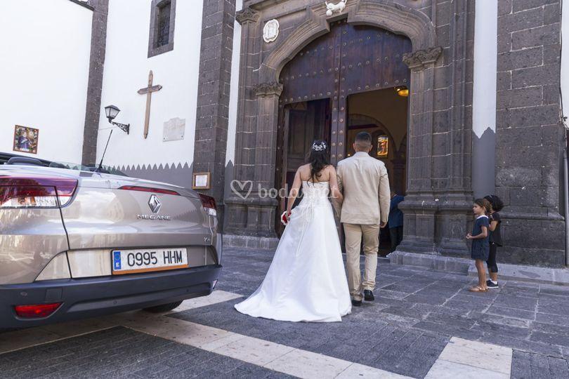 Entrada de la novia en Vegueta