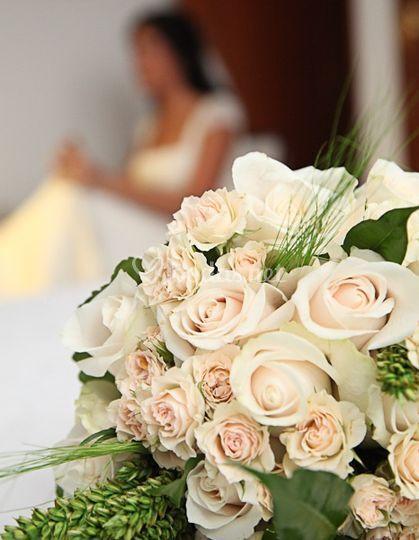 Bouquet rosas champán