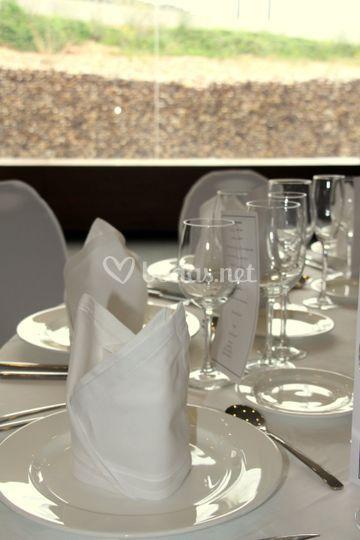 Detalle del banquete