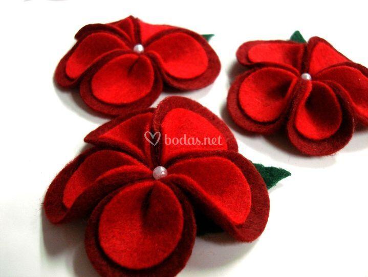 Flor roja-morada (especial bodas)