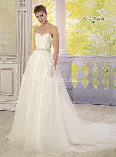 Vestidos de novia sara blanco mostoles