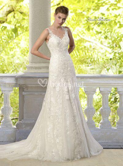 Vestidos novia sara blanco
