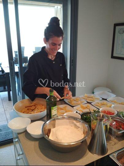 Preparando catering2