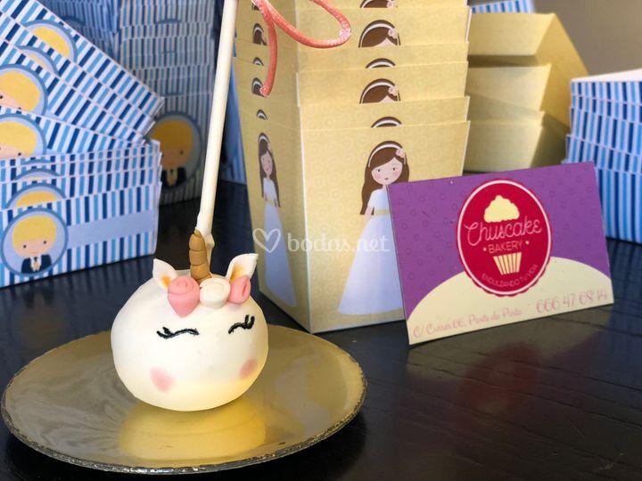 Cakepop unicornio