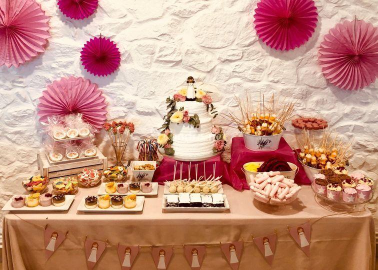 Mesa dulce evento