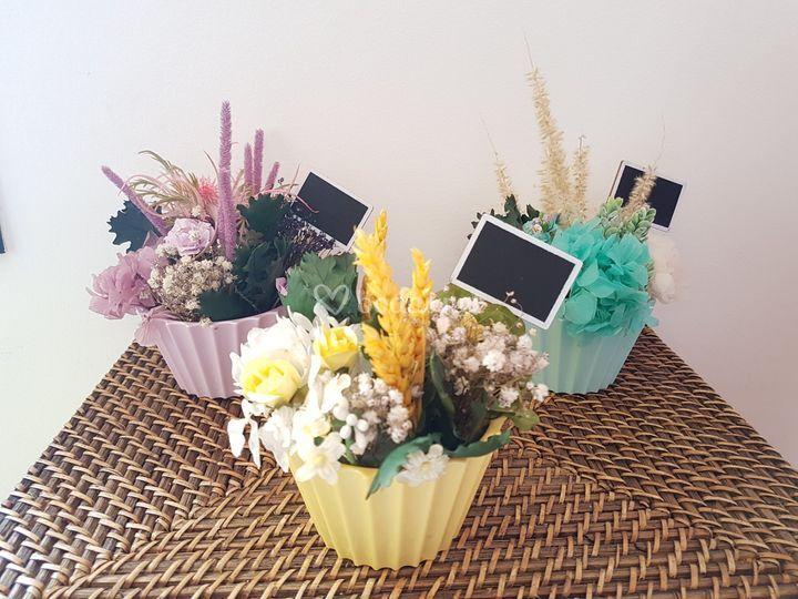 Cupcakes flores preservadas