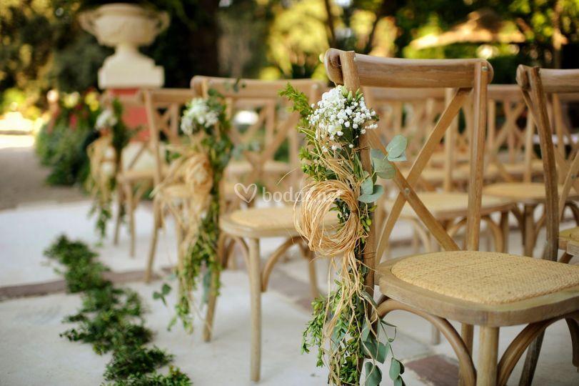 Detalles florales ceremonia