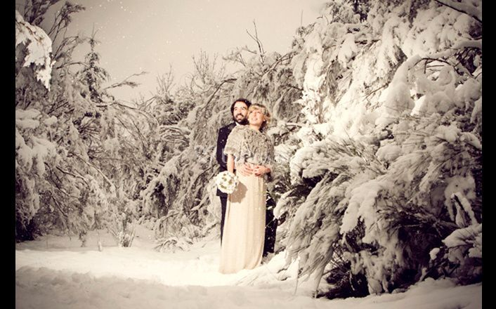 Entre la nieve