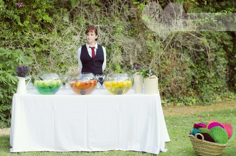 Buffet de aguas con aromas