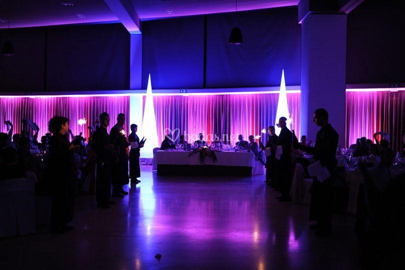 Iluminación de salones