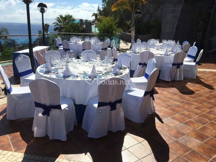 Almuerzo en terraza