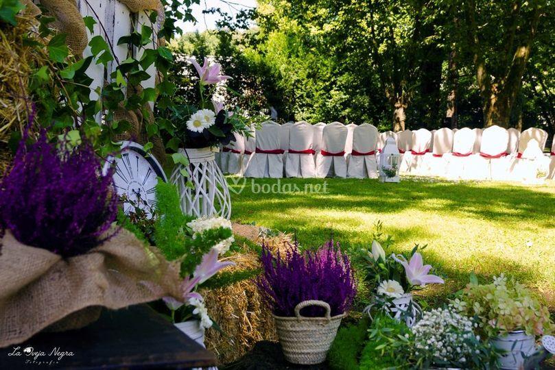 Detalle decoración jardín