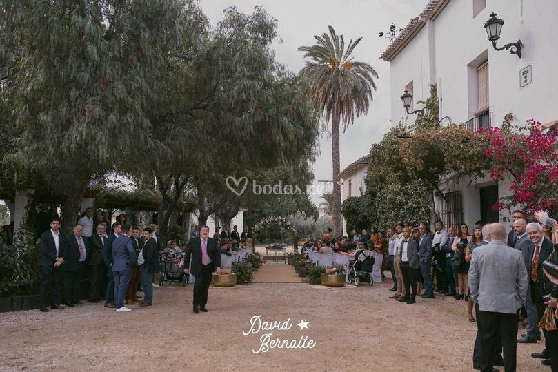 Ceremonia en exterior