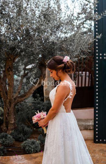 Recogido novia con trenza