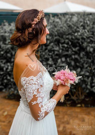 Recogido de novia romántico
