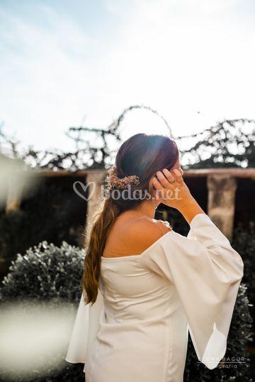 Recogido novia boho