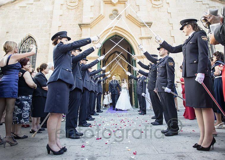 Saliendo de la ceremonia