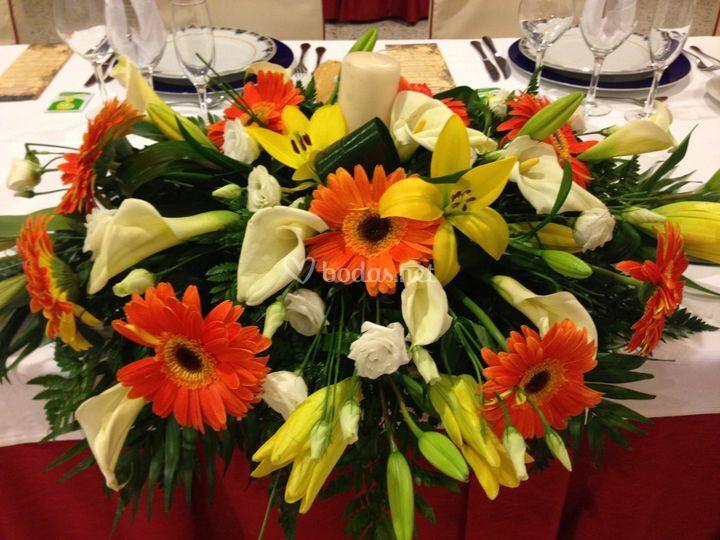 Centro de flores presidencial