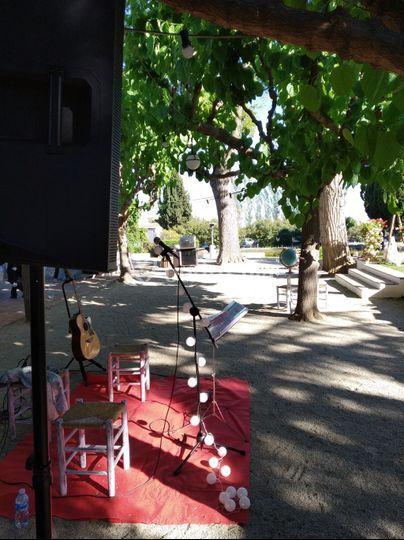 Set up para concierto
