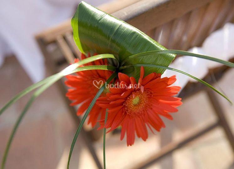 Detalle de arreglo floral