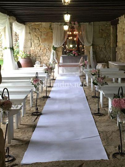 Ceremonia en el porche