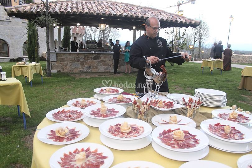 Cortador de jamón en lunch