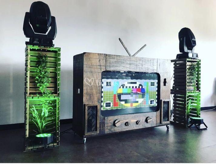 Cabina dj tv vintage
