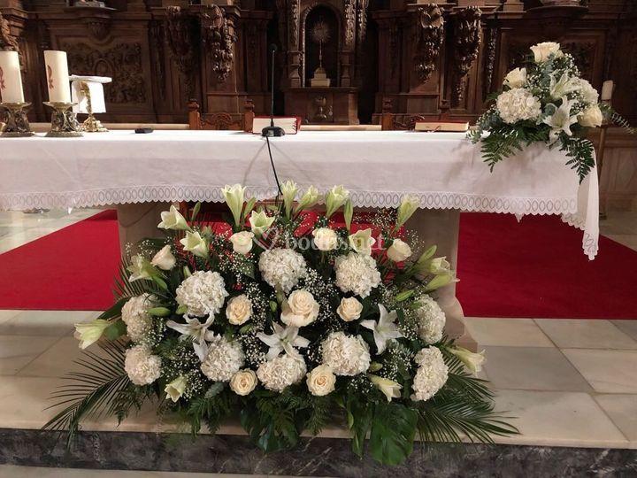 Altar de la iglesia de villacarriedo