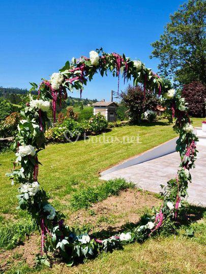 Arco redondo boda