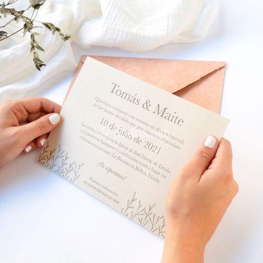 """Invitación """"Delicate"""""""