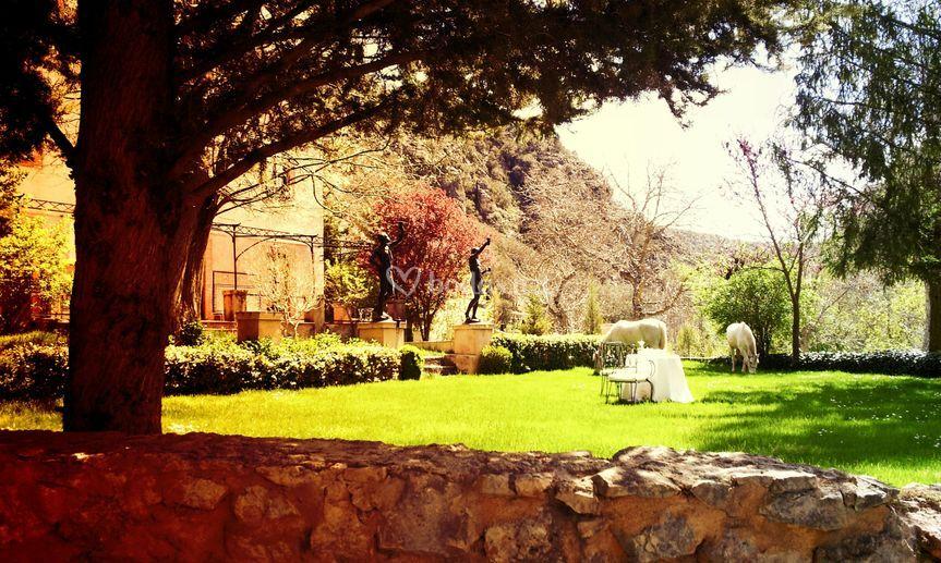 El jardín de las estatuas.