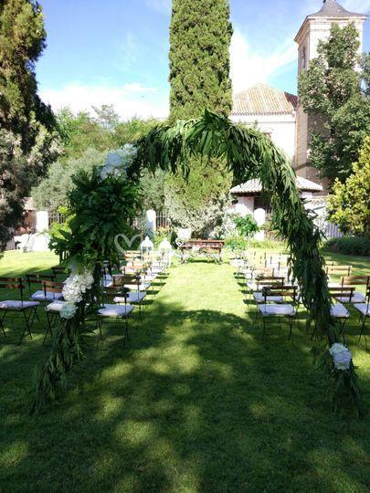 Arco entrada ceremonia