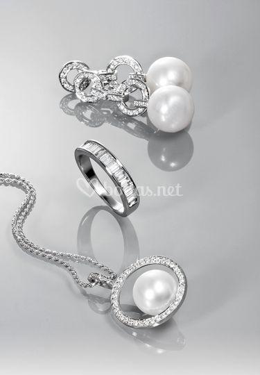 Conjunto joyas diamantes