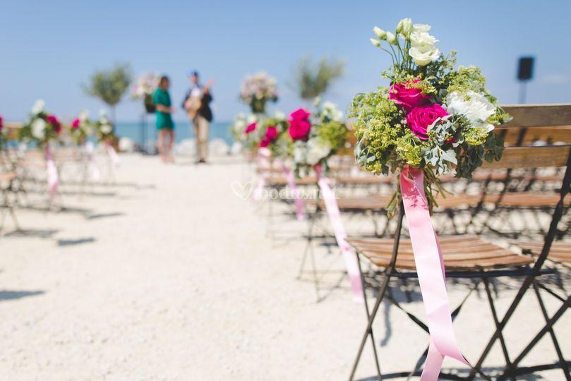 Decoración para boda en la playa