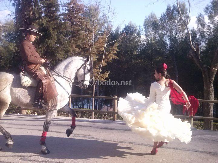 Sevillanas a caballo