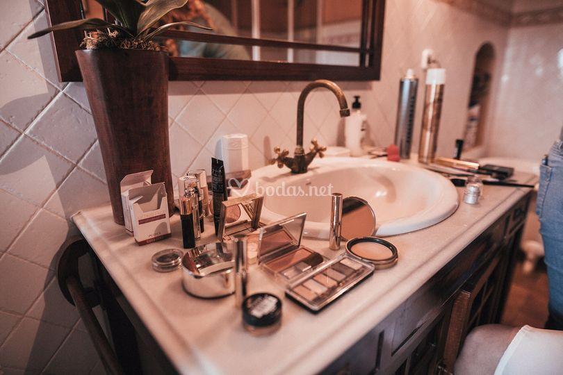 Preparación del maquillaje