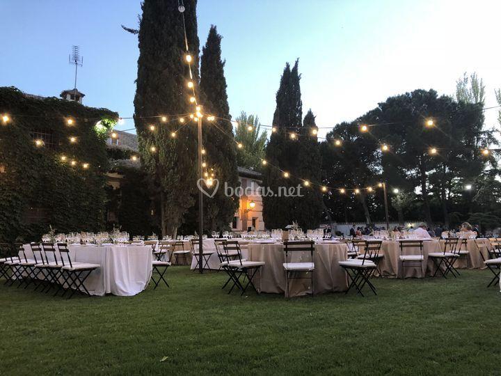 Cena en el jardín 6000 m2