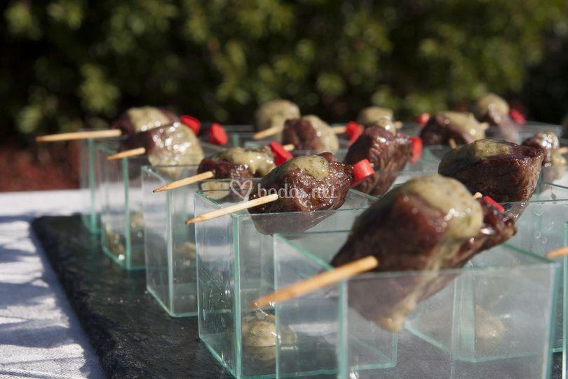 Taquito buey con chimichurri