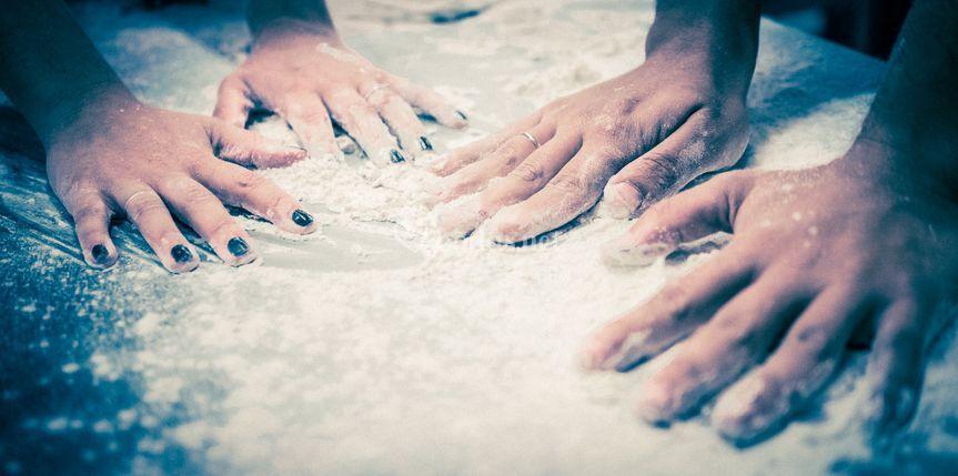 Con las manos en la masa