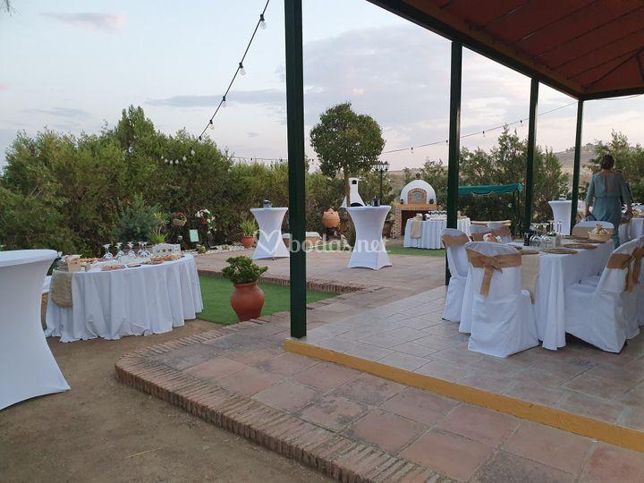 Cóctel de boda de plata