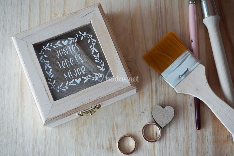Caja para anillos o arras