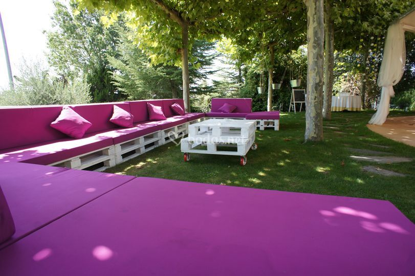 Zona chill out jardines
