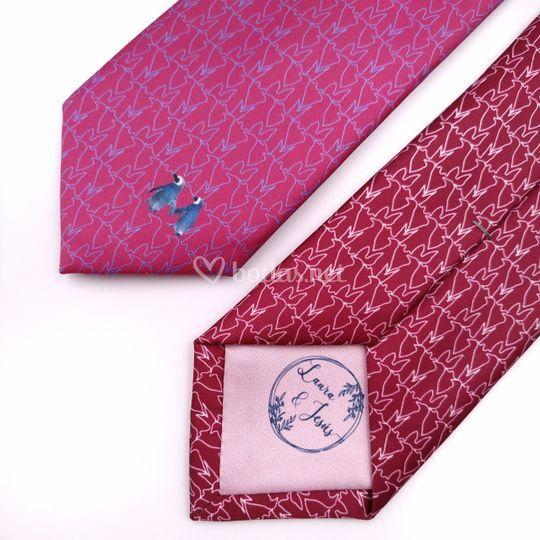 Detalle de corbata personalizada